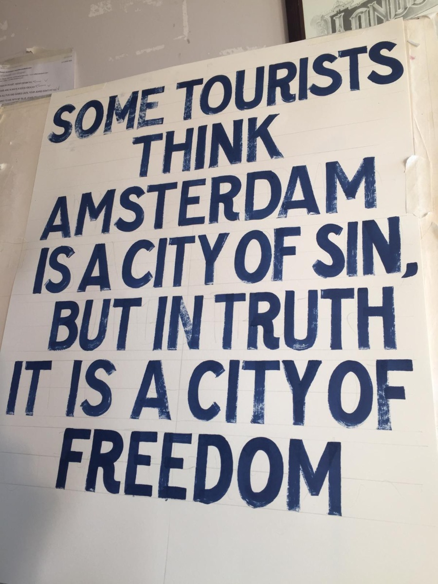 Some tourists think Amsterdam is a city of sin, but in truth it is a city of freedom