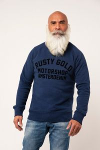 Amsterdenim x Rusty Gold Motorshop Amsterdam limited edition sweatshirt. Made with love, 80% organic cotton and 20% recycled polyester. Support your local!
