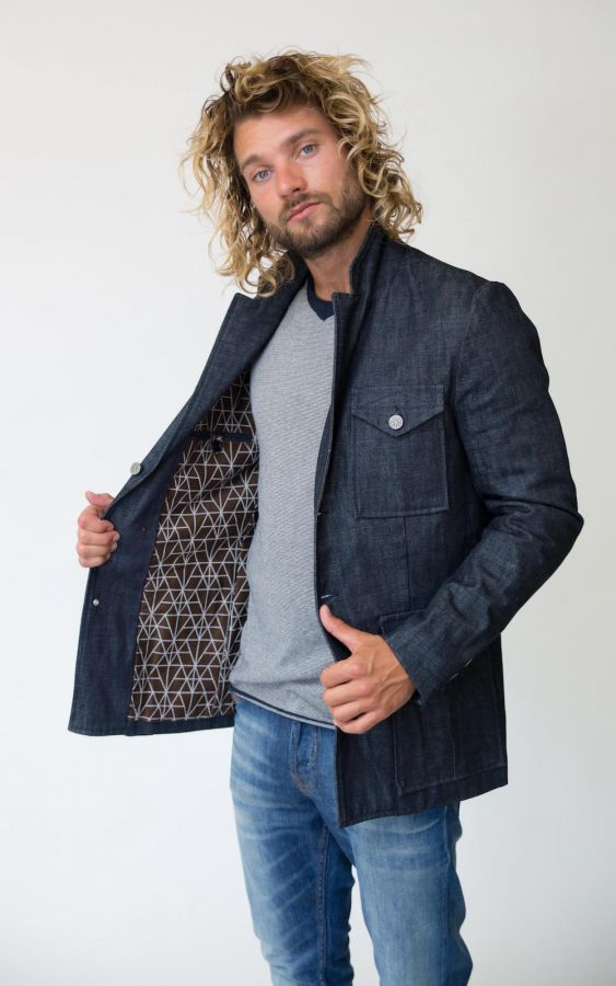 Amsterdenim - Blazer - COR - Raw Denim