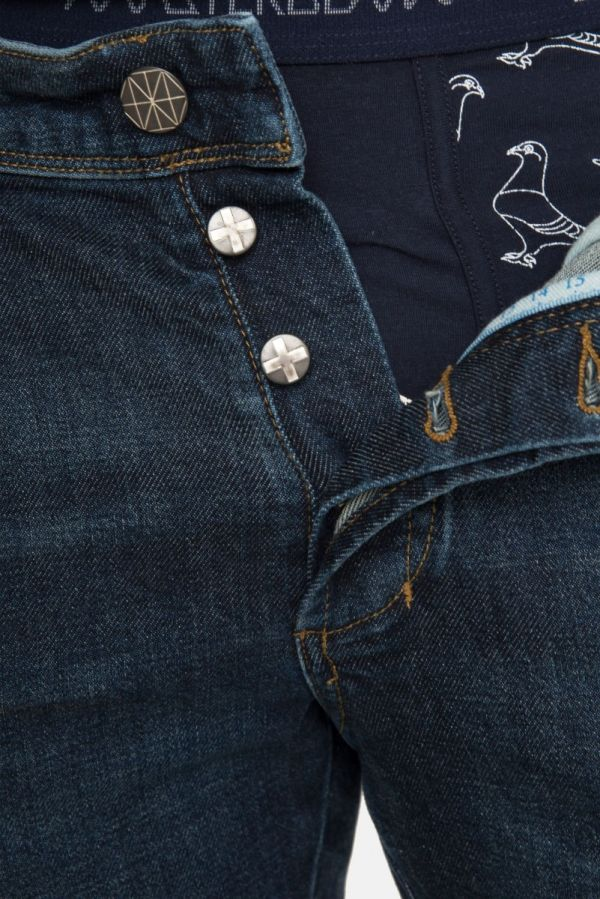 Amsterdenim - Jeans - JOHAN - Tapered slim fit - Black and Blue