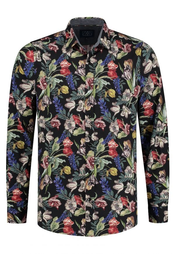 Amsterdenim – Shirt – CAROLUS L/S – Multicolor