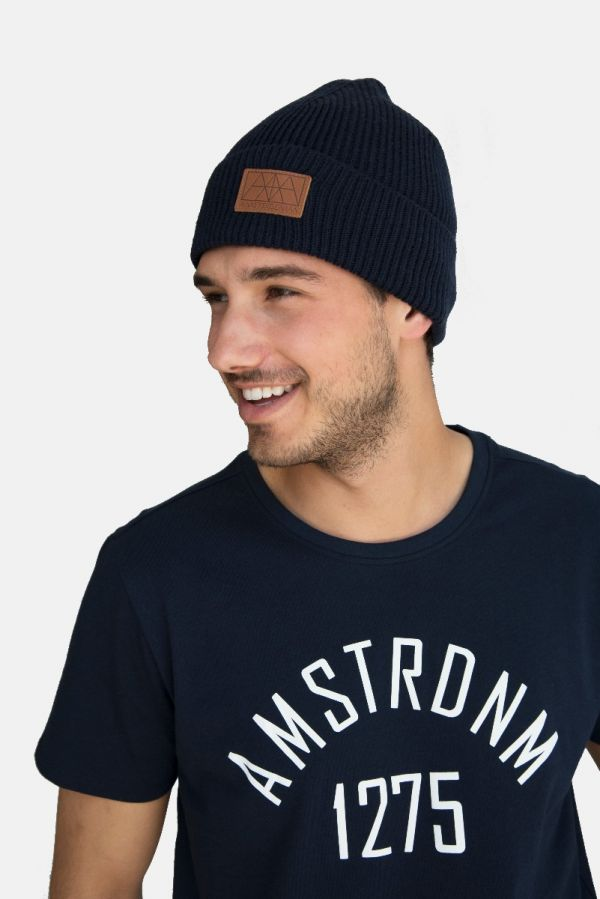 Amsterdenim - Knitted Hat - ROB - Navy Blue